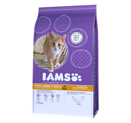IAMS® SANTÉ PROACTIVE Chaton et junior riche en poulet