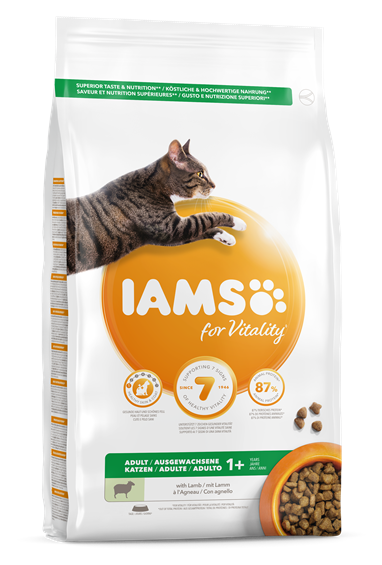 IAMS for Vitality Adultes à l'agneau pour chats