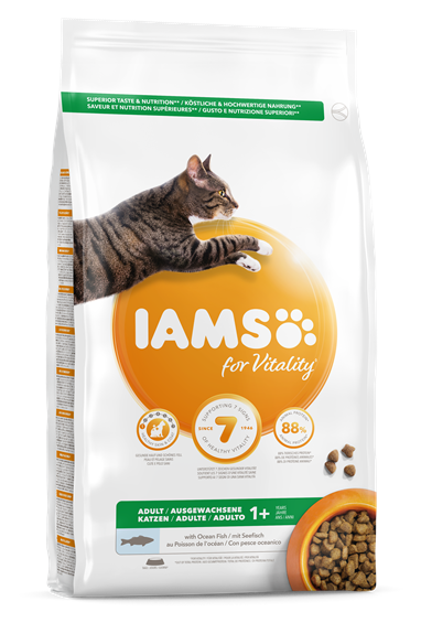 IAMS for Vitality Adultes au poisson de mer pour chats